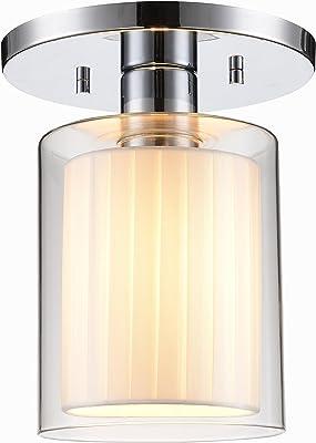Woodbridge Lighting 14735CHR-GS10610 Alaina 14735Chr Alaina 1-Light Semi-Flush