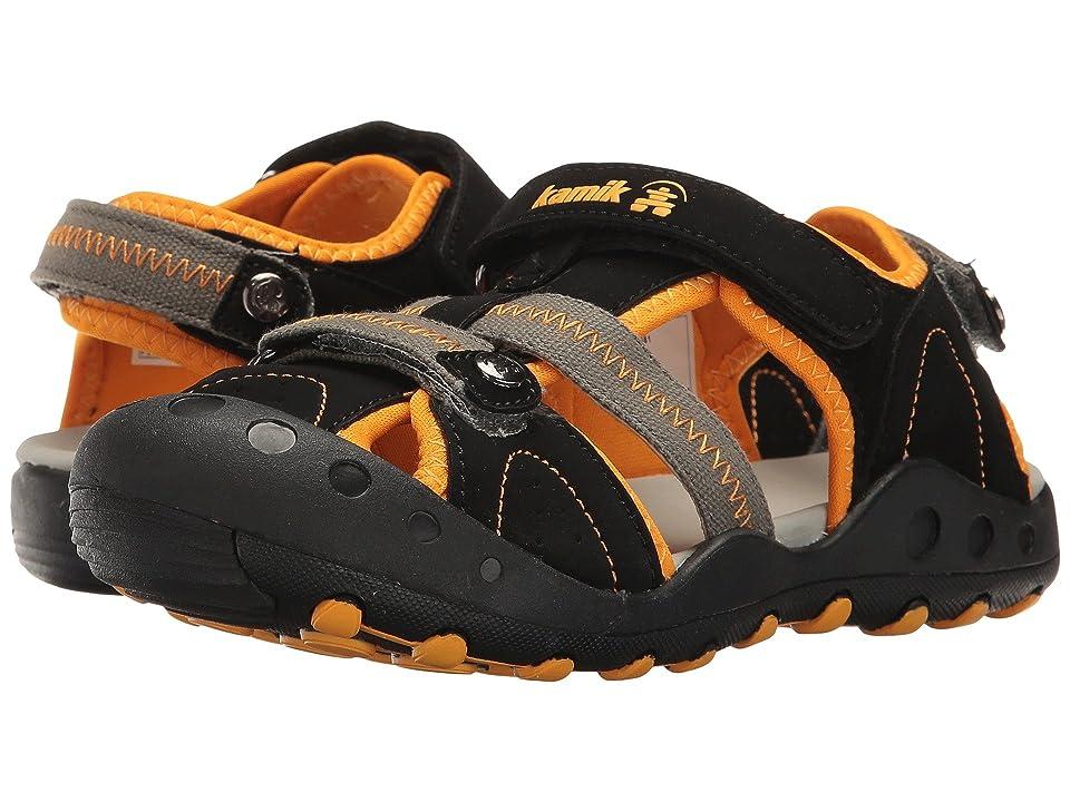 Kamik Kids Twig (Little Kid/Big Kid) (Black/Orange) Boys Shoes