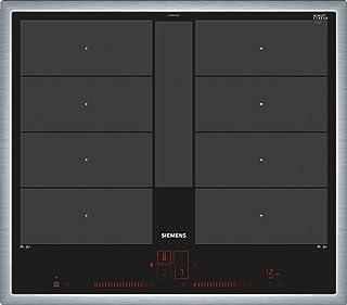 Siemens iQ700 Noir, Acier inoxydable Intégré Plaque avec zone à induction - Plaques (Noir, Acier inoxydable, Intégré, Plaq...
