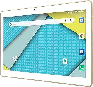 "Tablet + Phone = Phablet 10.1"" Display Unlocked 3G Android 8.1 Google Certified Powerful 4700 mAh Battery Dual Camera Fast Quad Core Processor ATT Tmobile Sprint Metro Cricket - Gold"