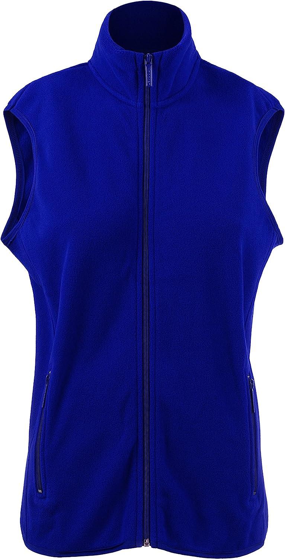 BEKDO Unisex Super Soft Solid Polar Fleece Zip Up Vest with Side