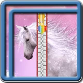 Bloqueo de la pantalla de la cremallera del unicornio