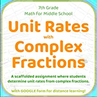 Unit Rates with Complex Fractions and GOOGLE FORM for Distance Learning