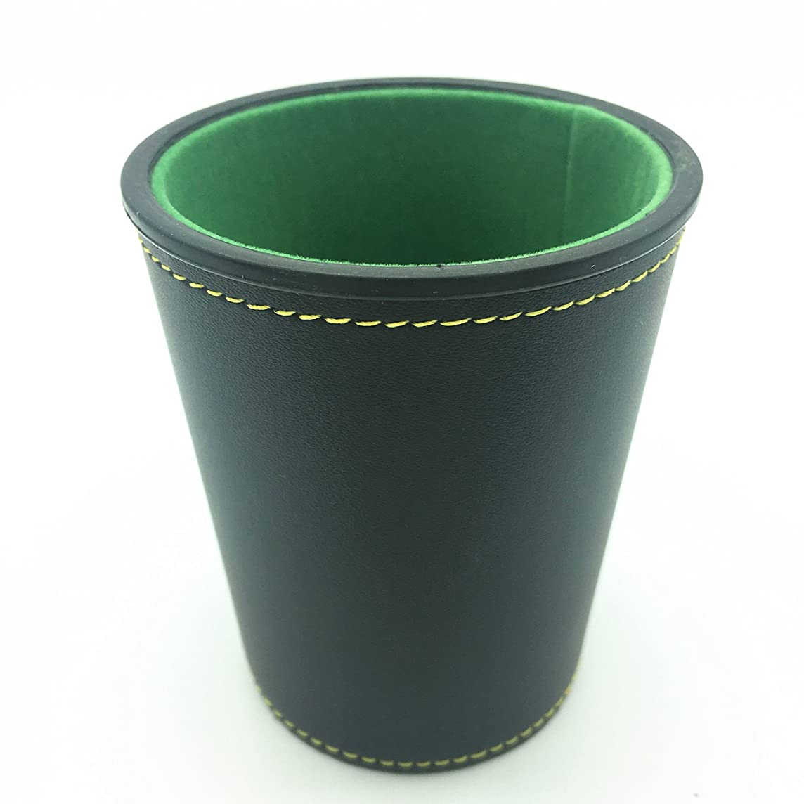 Momostar PU Leather Dice Cup with green Felt Lining, Mini 3.5