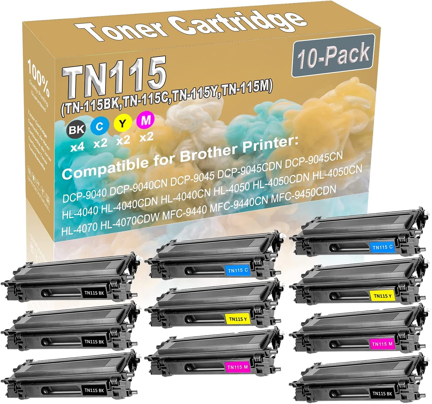 10-Pack 4BK+2C+2Y+2M Compatible DCP-9040 Columbus Mall Print DCP-9045 Sales of SALE items from new works Laser