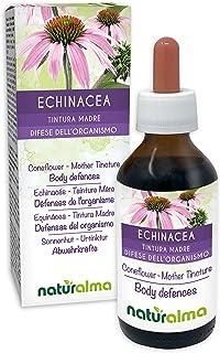 EQUINÁCEA (Echinacea angustifolia) raíces Tintura Madre sin alcohol NATURALMA | Extracto líquido gotas 100 ml | Complemento alimenticio | Vegano
