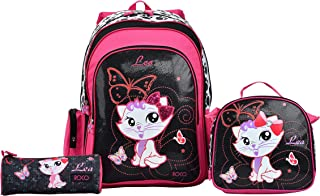 ROCO BAG BACKPACK 17 KATY 3-IN-1,with pencil case & Lunch Bag