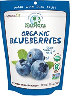 Natierra Nature's All Foods Organic Freeze-Dried Blueberries, 1.2 Oz