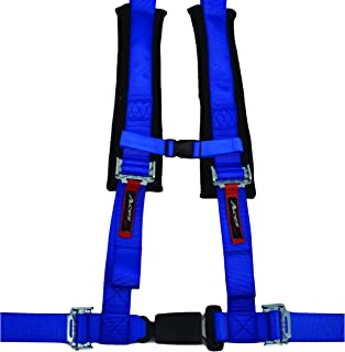 4 Point Harness with 2 Inch Padding (Ez Buckle Technology) (Blue)