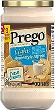 Prego Pasta Sauce, Light Homestyle Alfredo Sauce, 14.5 Ounce Jar (Pack of 6)
