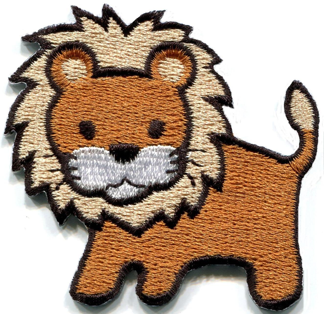 Lion cat puma jaguar tiger cheetah animal wildlife cute kids embroidered applique iron-on patch new