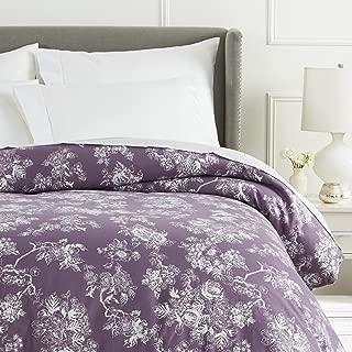 Pinzon Flannel Duvet Cover - Full or Queen, Floral Lavender