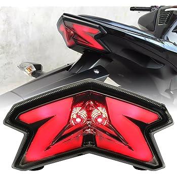 Motorcycle LED Intergrated Rear Light Turn Signals Tail Light Smoke for 2012-2014 Kawasaki Ninja 650 650R ER6N ER6F