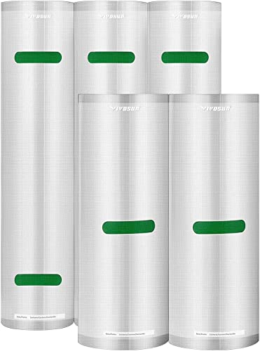 """high quality VIVOSUN Vacuum Sealer Rolls (3 Rolls 11""""x16' and 2 Rolls 8""""x20') for Food Saver,Seal high quality a Meal,Commercial Grade Rolls popular for Sous Vide,BFA Free outlet sale"""