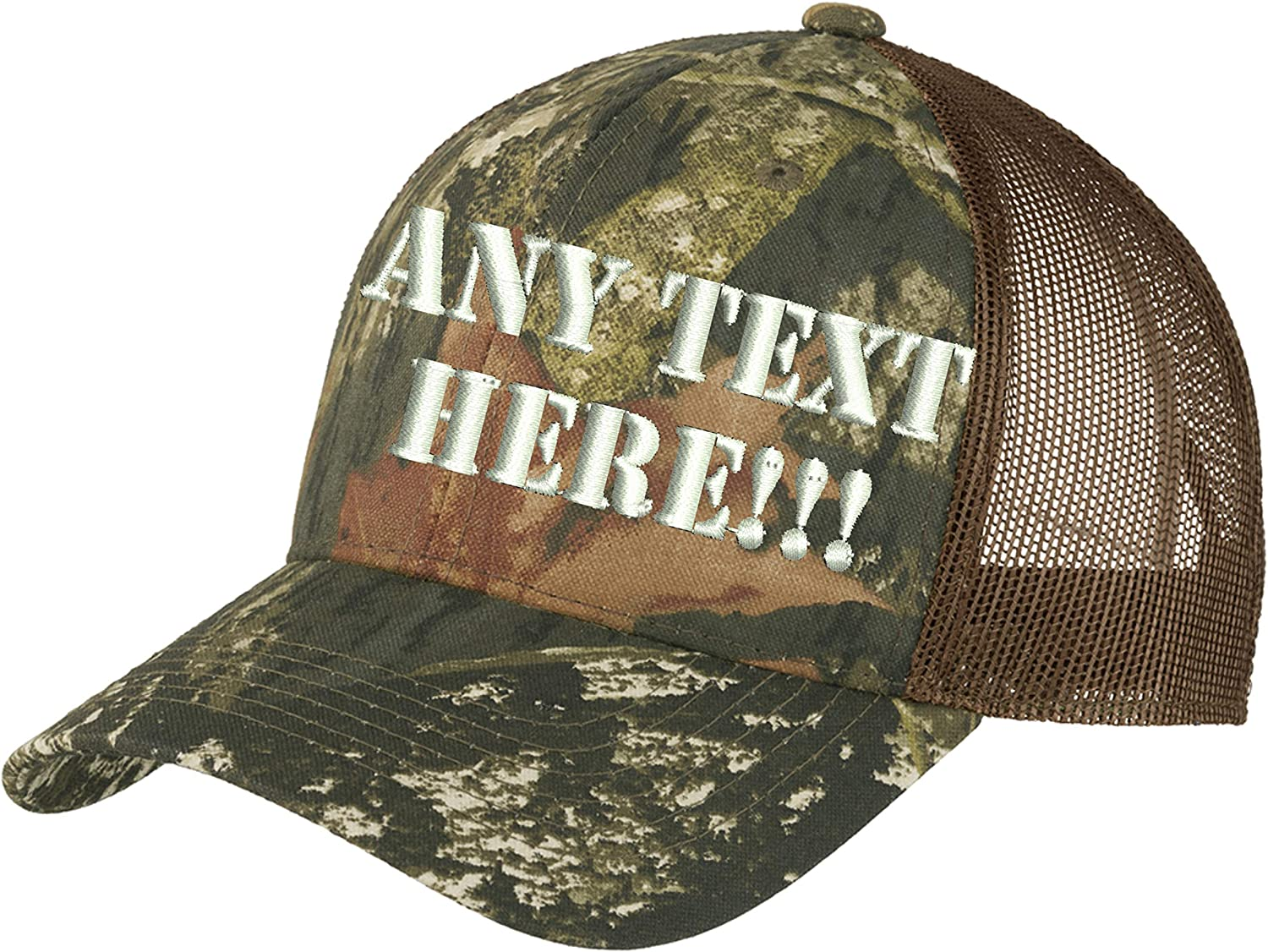 Design Your Gorgeous Own Camo Free shipping anywhere in the nation Hat Personalized Custom Ca Text Back Mesh