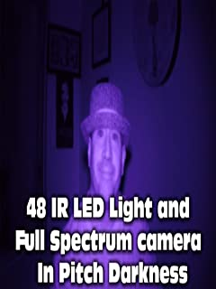 Nightvision made easy with a 48 Infrared LED light
