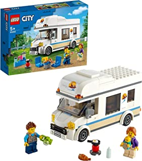 LEGO 60283 City Great Vehicles Holiday Camper Van Toy, Motorhome Car Playset, Summer Holidays Toys