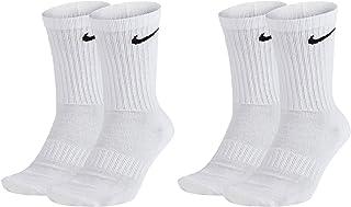 NIKE, 4 pares de calcetines largos para hombre y mujer, SX4508, color blanco o negro