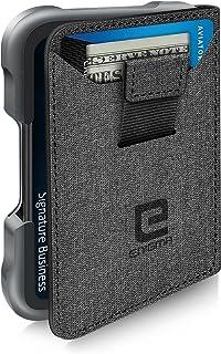 ENIGMA Wallet for Men Leather Metal Wallets H03 (GREY)