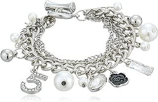 Fashion Jewelry MISASHA Logo Gold Tone Chain Inspired Charm Bracelet for Women