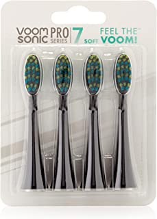 Voom Sonic Pro 7 Series Replacement Brush Heads Black