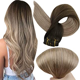 """Full Shine 22"""" 140g Human Clip in Extensions Hair Extensions Ombre Brazilian Straight Hair Extensions Balayage Extensions ..."""