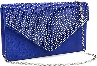 Evening Bag for Women, Glitter Rhinestone Wedding Evening Purse Crystal Envelope Crossbody Shoulder Clutch Bags