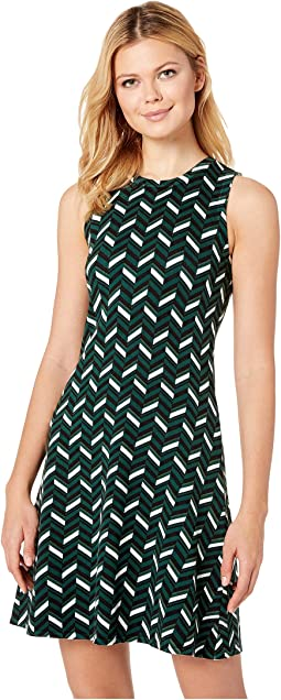 Chic Chevron Print Dress