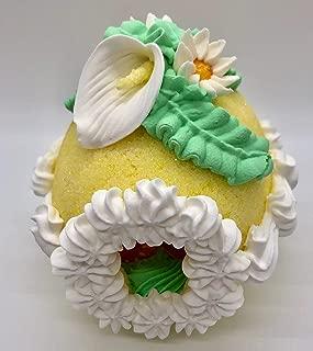 Sugar Egg Handcrafted Easter Decoration - Medium Decorative Panoramic Yellow