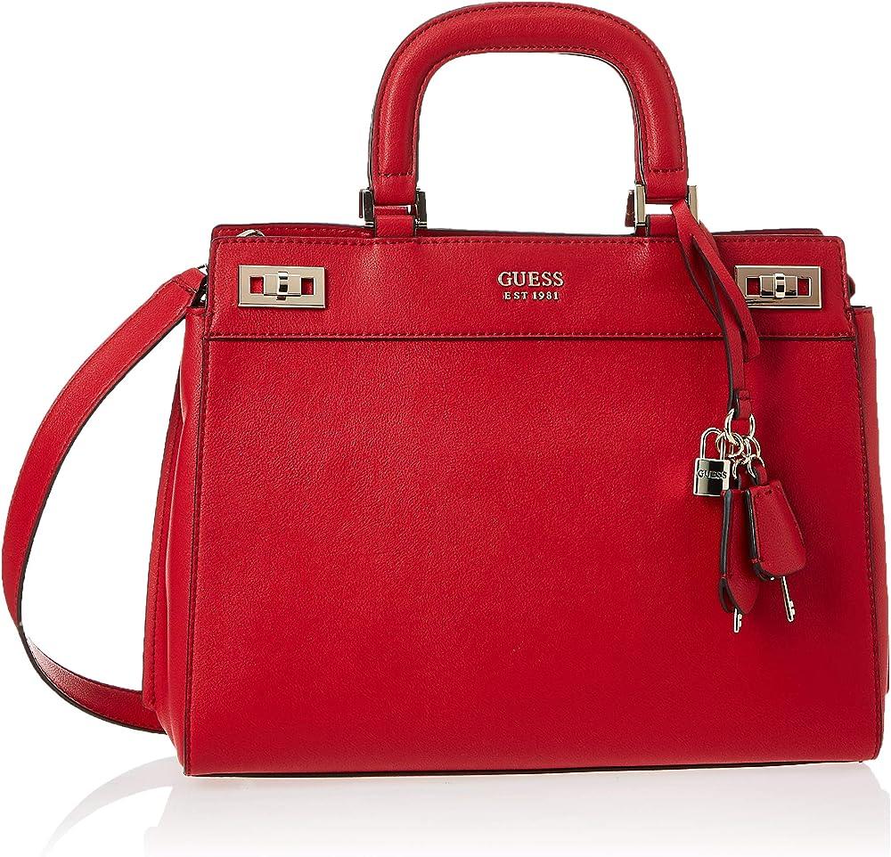 guess katey luxury satchel, bags crossbody,borsa da donna a mano/tracolla,in pelle sintetica hwvg7870070