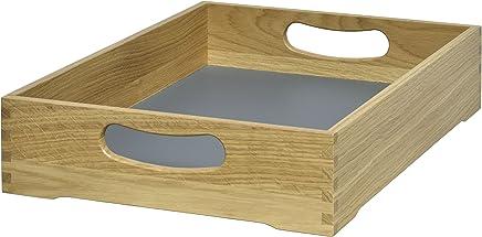 Preisvergleich für Tablett, aus Holz, stabil in Massivholz Eiche natur, für den Privatgebrauch und Gastronomie