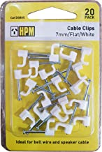 HPM DQ005 7mm White Cable Clips Accessory - Cable clips Flat type Pack of 20 7mm white