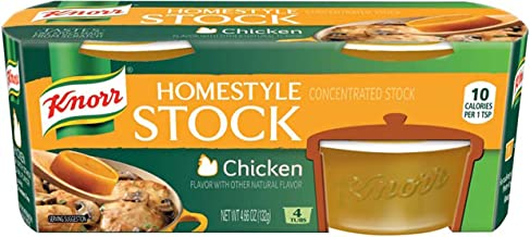 Knorr Homestyle Stock Chicken Concentrated Broth, Chicken 4.66 oz, 4 ct