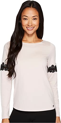 Ivanka Trump - Knit Long Sleeve with Lace Detail