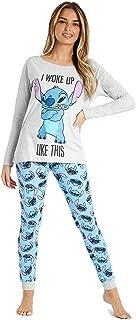 Disney Pyjamas for Women, Stitch Womens Pyjamas Cotton, Women's Nightwear S-XL