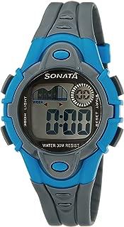 Sonata Super Fibre Digital Grey Dial Men's Watch -NH87012PP03