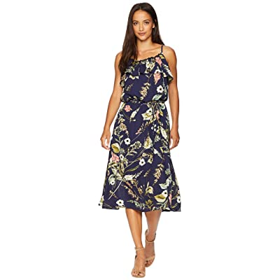 B Collection by Bobeau Maya Printed Dress (Blue Floral) Women