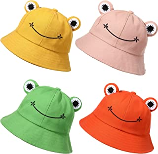 Cute Frog Bucket Hats Fisherman Cap Summer Beach Sun Protection Cap for Adults
