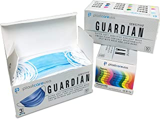 Level 3 Light Blue Procedure Surgical Dental Medical Face Mask, Box of 50, PlastCare USA Guardian