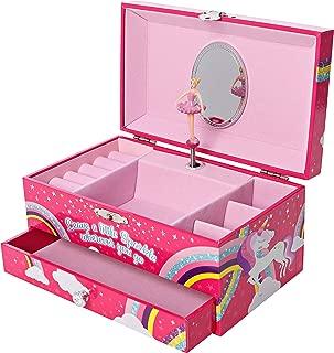 Unicorn Jewelry Box, Ballerina Music Box for Girls