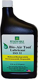 Renewable Lubricants Bio-Air Tool ISO 32 Lubricant Oil, 1 qt Bottle