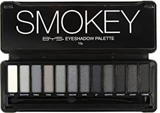 BYS 12 Color Eyeshadow Palette, Nude Smokey, 3 Ounce, 1 Count