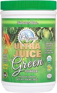 NaturesPlus Ultra Juice Green Powder - .66 lbs, Green Drink - Multinutrient Supplement, 20 Whole Green Foods & Global Alga...