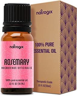 Natrogix Moroccan Rosemary Essential Oil 100% Pure Therapeutic Grade Aromatherapy Frankincense Oil GC/MS Certified - 10ml w/Free Recipe E-Book