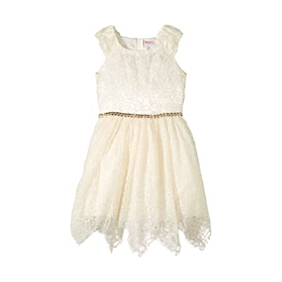 Nanette Lepore Kids Novelty Shimmer Soutache Lace (Little Kids/Big Kids) (Cream) Girl