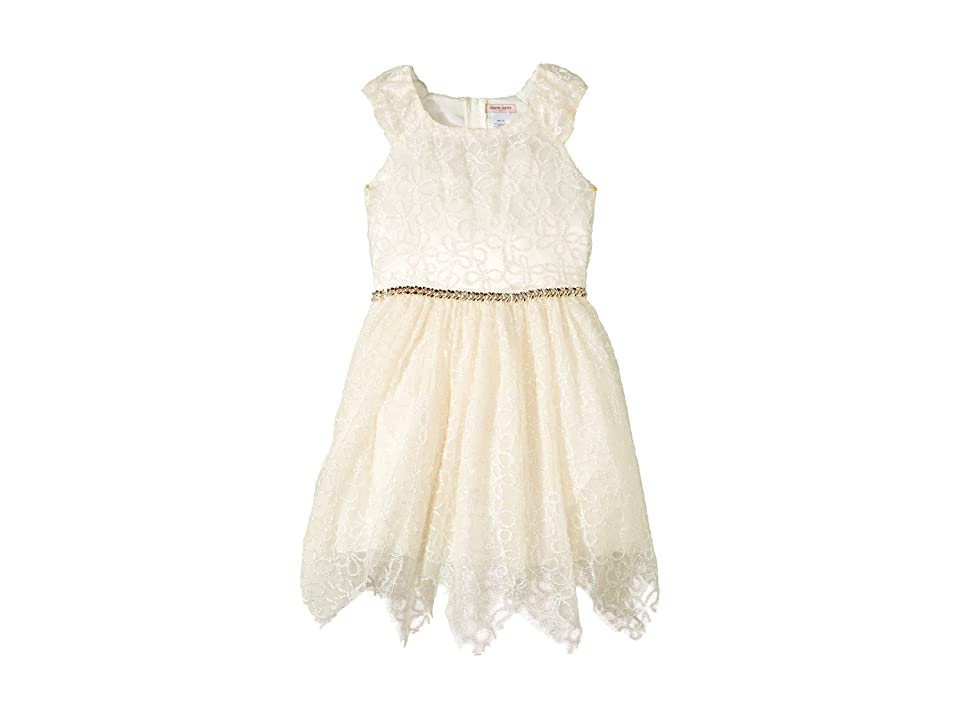Nanette Lepore Kids Novelty Shimmer Soutache Lace (Little Kids/Big Kids) (Cream) Girl