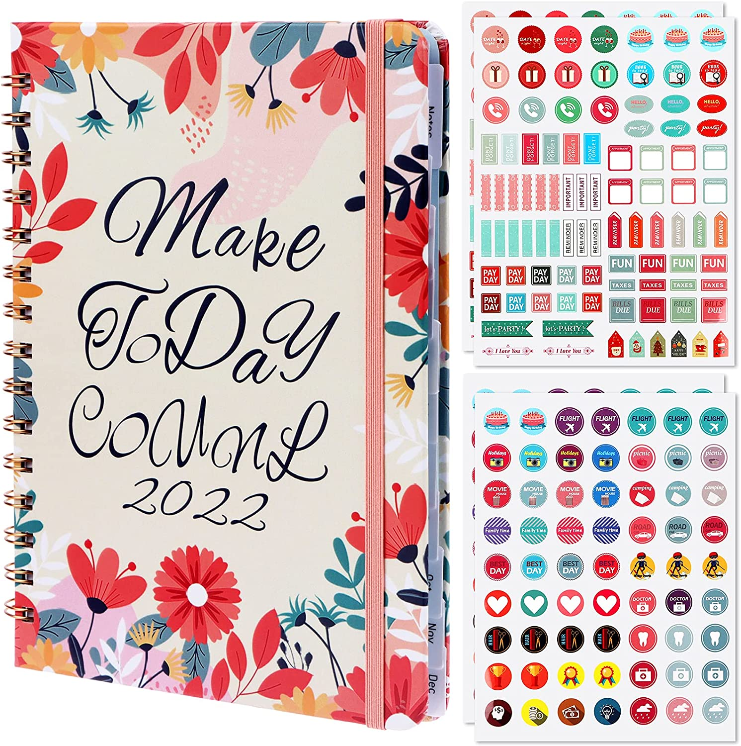 Challenge the lowest price of Selling and selling Japan ☆ 2022 Planner with 4 Sheets Stickers Daily Month Planning