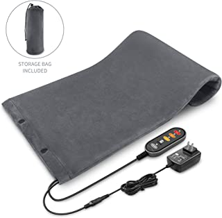 Comfier Heating Pad for Back Pain Relief- 12V Safety Voltage, Machine Washable, 3 Heat Levels with Auto Shut Off, Ultra Soft Plush, Heated Blanket and Therapeutic Heated Pad for Cramps, Chronic Pain