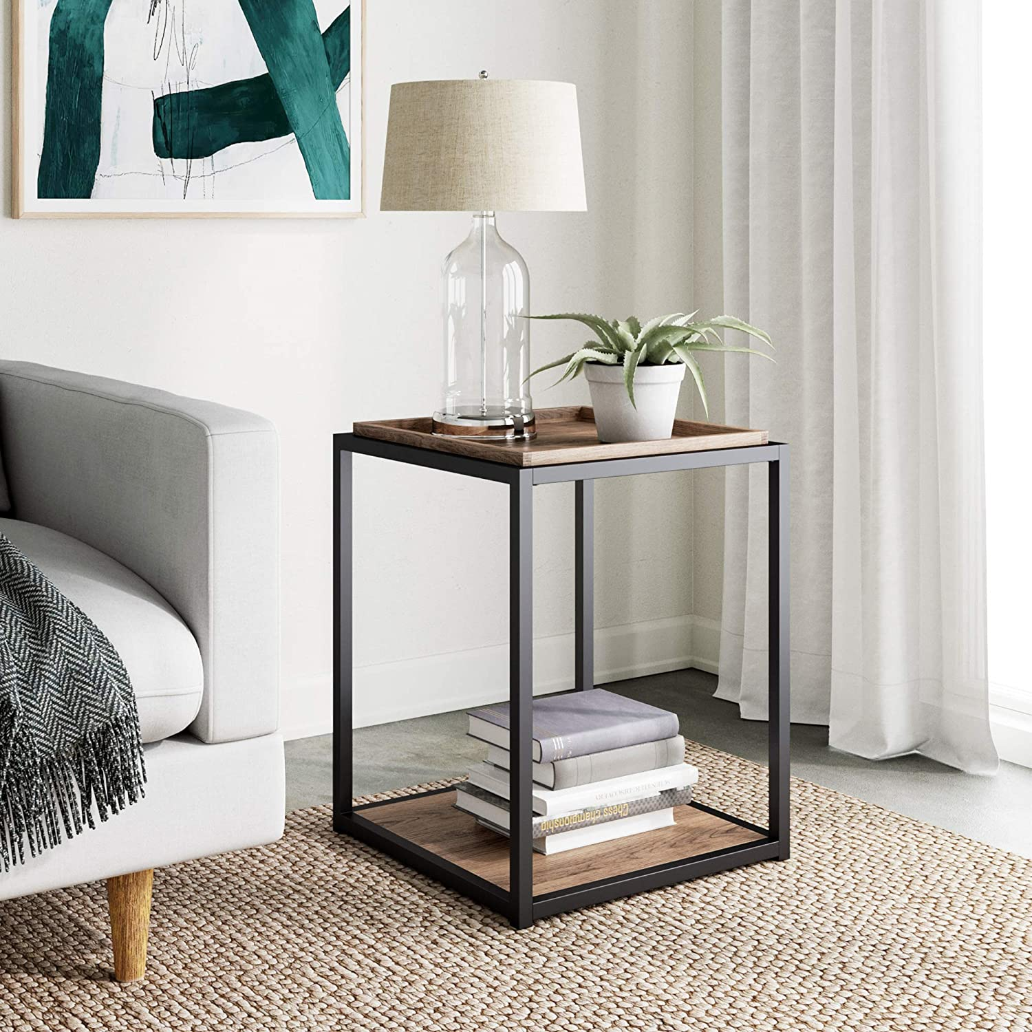 Nathan Popular popular James Nash All items free shipping Modern Industrial Accent End wit Side Table or