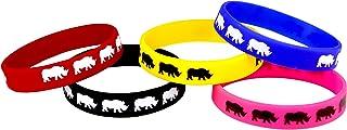 Sorai Rhino Wrist Band, Multi, Pack of 5